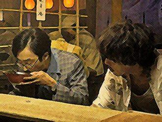 エール ネタバレ20週99話 智彦のラーメンをすする池田を見る久志