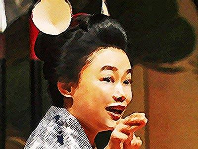 おちょやん ネタバレ6週26話 学芸会並みの演技ネズミ3役をする千代のイラスト