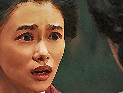 おちょやん ネタバレ6週27話 驚きの声を上げる千代のイラスト
