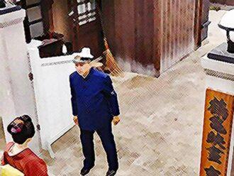 おちょやん ネタバレ6週29話 撮影所の前で緊張する千代のイラスト