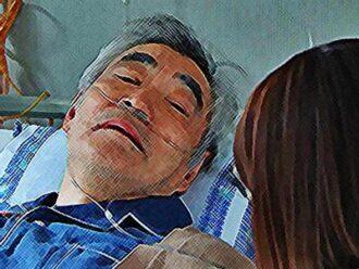 監察医・朝顔2ネタバレあらすじ16話 祖父を見舞う朝顔のイラスト