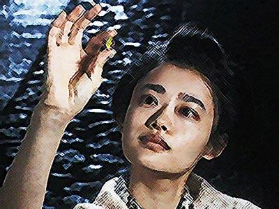 おちょやん ネタバレ5週22話 亡き母・サエに女優になることを誓う千代のイラスト