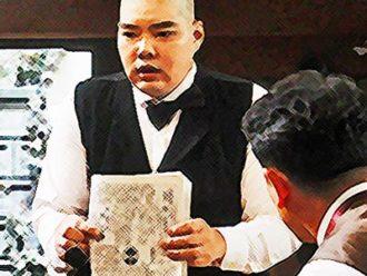 おちょやん ネタバレ5週22話 キネマのボーイ(助監督)の平田が詐欺の記事を見せるイラスト