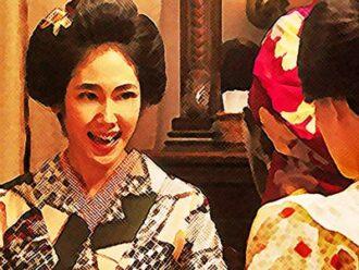 おちょやん ネタバレ7週31話 千代に笑顔でアドバイスする洋子のイラスト