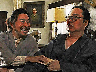 おちょやん ネタバレ8週37話 片金所長に直談判するテルヲのイラスト