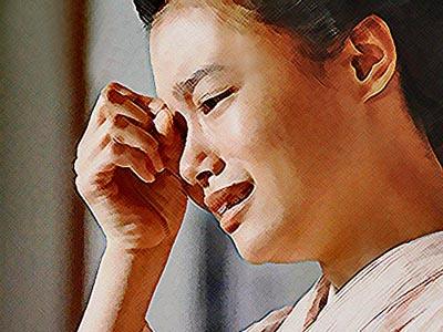 おちょやん ネタバレ8週39話 一平に感情をぶつけて泣き出した千代のイラスト
