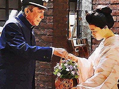 おちょやん ネタバレ8週40話 差出人不明の花を受け取った千代のイラスト