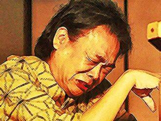 おちょやん ネタバレ9週44話 亡き天海を思い涙する千之助のイラスト
