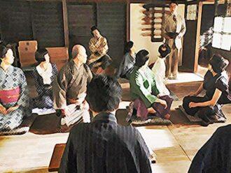 おちょやん ネタバレ9週45話 鶴亀家庭劇の劇団員が揃ったイラスト