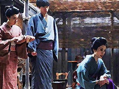 おちょやん ネタバレ10週48話 過去を明かすルリ子のイラスト