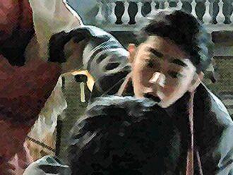 おちょやん ネタバレ12週57話 一平を殴るヨシヲのイラスト