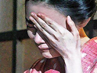 おちょやん ネタバレ12週59話 亡き母・サエにヨシヲのことを報告する千代のイラスト