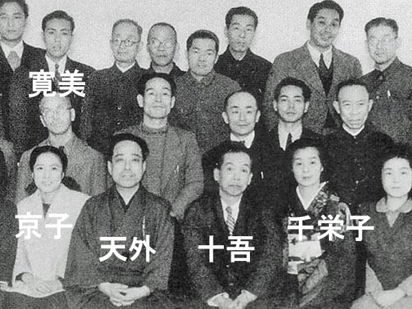 松竹新喜劇発足時の座員の画像