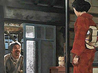 おちょやん ネタバレ15週72話 戸を直すテルヲに怒る千代のイラスト