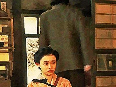 おちょやん ネタバレ17週84話 一人で家庭劇を続けると宣言した千代のイラスト