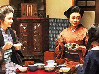 おちょやんネタバレあらすじ21週102話 栗子と春子と仲良く暮らす千代のイラスト