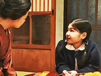 おちょやんネタバレあらすじ21週104話 千代の芝居を見たい春子のイラスト