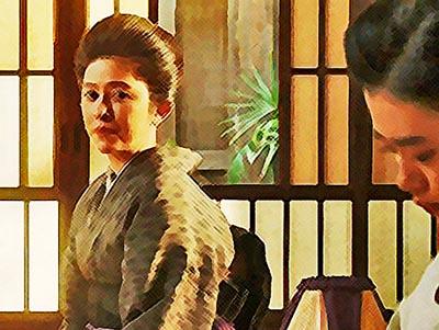 おちょやんネタバレあらすじ21週105話 千代を心配する栗子のイラスト