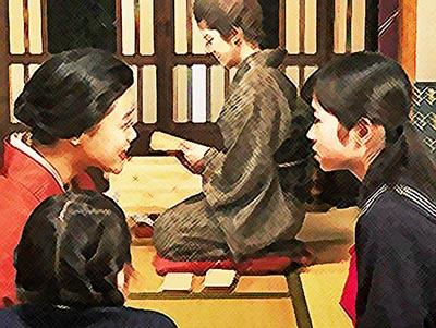 おちょやんネタバレあらすじ22週109話 千代に相談する静子のイラスト