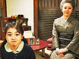 おちょやんネタバレあらすじ22週110話 ラジオ放送を待つ栗子と春子のイラスト
