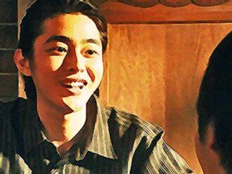 おちょやんあらすじネタバレ19週94話 千代の話を嬉しそうに聞くヨシヲのイラスト