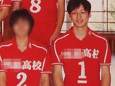 坂口健太郎さんの高校時代・バレーボール部の画像
