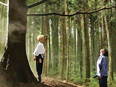 おかえりモネ あらすじネタバレ1週2話 ヒバの木を見上げる百音のイラスト