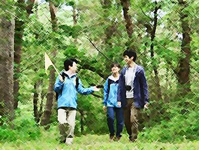 おかえりモネ あらすじネタバレ 1週4話 森林セラピーに出掛けた百音たちのイラスト