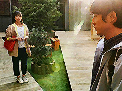 おかえりモネ あらすじネタバレ 1週4話 菅波に登米に来る理由をたずねる百音のイラスト