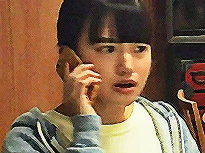 おかえりモネ ネタバレあらすじ 8週 菅波と電話で話す百音のイラスト