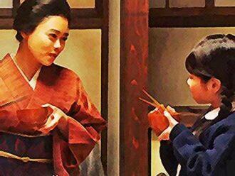 おちょやんネタバレあらすじ23週111話 春子を養子に迎えた千代のイラスト