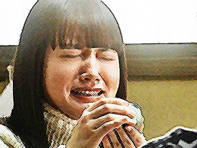 おかえりモネ ネタバレあらすじ 9週44話 日本酒ぐいぐい飲む百音のイラスト