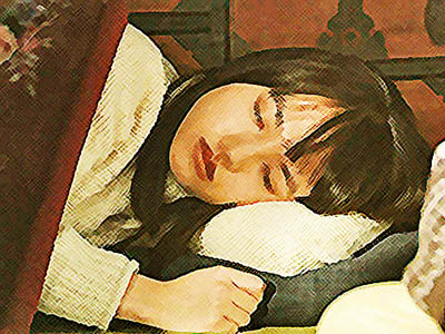 おかえりモネ ネタバレあらすじ 9週45話 酔って眠る百音のイラスト