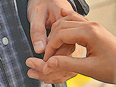 おかえりモネ ネタバレあらすじ 16週80話 菅波の手をにぎる百音のイラスト
