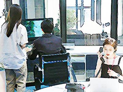 おかえりモネ ネタバレあらすじ 18週86話 鮫島のレースを迎えた百音と内田と莉子のイラスト